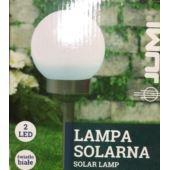 LAMPA SOLARNA KULA 15CM 2LED