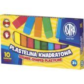 ASTRA PLASTELINA 10KOL. KWADRAT