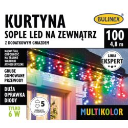 KURTYNA SOPLE LED 100L ZEWN. DOD.GNIAZ.MULTIKOLOR