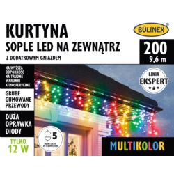 KURTYNA SOPLE LED 200L ZEWN.DOD.GNIAZ.MULTIKOLOR