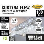 KURTYNA FLESZ SOPLE LED 100L D/G BIAŁY