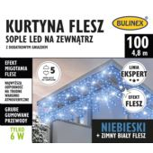 KURTYNA FLESZ SOPLE LED 100L D/G NIEBIESKI