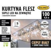 KURTYNA FLESZ SOPLE LED 100L D/G BIAŁY CIEPŁY