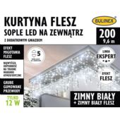 KURTYNA FLESZ SOPLE LED 200L D/G BIAŁY