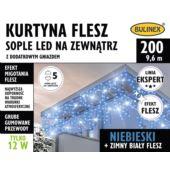 KURTYNA FLESZ SOPLE LED 200L D/G NIEBIESKI