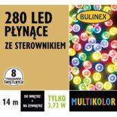 LAMPKI LED 280L PŁYNĄCE Z ZASILACZEM, MULTIKOLOR
