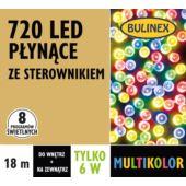 LAMPKI LED 720L PŁYNĄCE Z ZASILACZEM, MULTIKOLOR