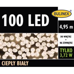 LAMPKI LED 100L Z ZASILACZEM CIEPŁY BIAŁY