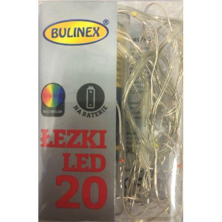 LAMPKI NITKI 20 LED NA BATERIE MULTIKOLOR
