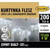 KURTYNKA FLESZ SOPLE LED 200L D/G ZASILACZ BIAŁY