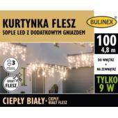 KURTYNKA FLESZ SOPLE LED 100L D/G ZAS.C.BIAŁY/C.BI