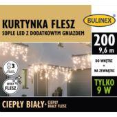 KURTYNKA FLESZ SOPLE LED 200L D/G ZAS.C.BIAŁY/C.BI