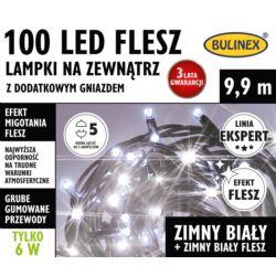 LAMPKI FLESZ LED 100L ZEWN.Z DOD.GNIAZ.BIAŁY