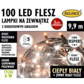 LAMPKI FLESZ LED 100L ZEWN.Z D.GN.BIAŁY C./BIAŁY F