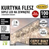 KURTYNA FLESZ SOPLE LED 100L D/G BIAŁY C./BIAŁY C.