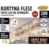 KURTYNA FLESZ SOPLE LED 200L D/G BIAŁY C/BIAŁY C.F