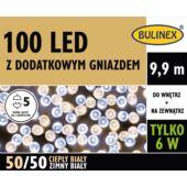LAMPKI LED 100L Z DOD.GN Z ZASILACZEM BIAŁY/BIAŁYC