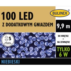 LAMPKI LED 100L Z DOD.GN Z ZASILACZEM NIEBIESKI