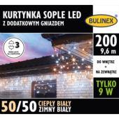 KURTYNKA SOPLE LED 200L DOD.GNIAZ.ZASILACZ B/B.C.