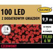 LAMPKI LED 100L Z DOD.GN Z ZASILACZEM CZERWONY