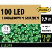 LAMPKI LED 100L Z DOD.GN Z ZASILACZEM ZIELONY