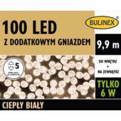 LAMPKI LED 100L Z DOD.GN Z ZASILACZEM BIAŁY CIEPŁY