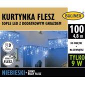 KURTYNKA FLESZ SOPLE LED 100L D/G ZASILACZ NIEBIES