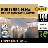 KURTYNKA FLESZ SOPLE LED 100L D/G ZASILACZ BIAŁYCI
