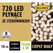 LAMPKI LED 720L PŁYNĄCE Z ZASILACZEM, BIAŁY CIEPŁY