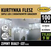 KURTYNKA FLESZ SOPLE LED 100L D/G ZASILACZ BIAŁY