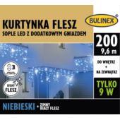 KURTYNKA FLESZ SOPLE LED 200L D/G ZASILACZ NIEBIES