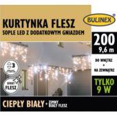 KURTYNKA FLESZ SOPLE LED 200L D/G ZASILACZ BIAŁYCI