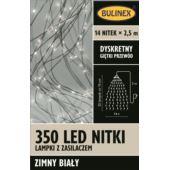 LAMPKI NITKI 350 LED BIAŁY