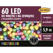 LAMPKI 60 LED NA BATERIE Z WYŁ.CZAS.MULTIKOLOR