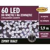 LAMPKI 60 LED NA BATERIE Z WYŁ.CZAS.BIAŁY
