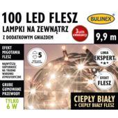 LAMPKI FLESZ LED 100L ZEWN.Z D.GN.BIAŁY C./B.CIEPŁ