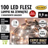 LAMPKI FLESZ LED 100L ZEWN.Z D.GN.BIAŁY C./BIAŁY