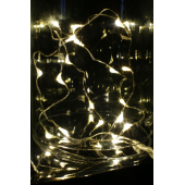 LAMPKI LED ŁEZKI 20L,BIAŁY CIEPŁY 1,9M, NA BATERIE