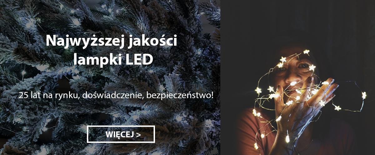 Oświetlenie świąteczne, lampki LED zewnętrzne i wewnętrzne